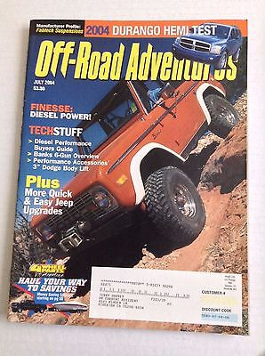 Off Road Adventures Magazine Diesel Power Performance July 2004 032217NONRH