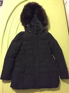 ZARA Women's Winter Black Jacket With Eskimo Hood