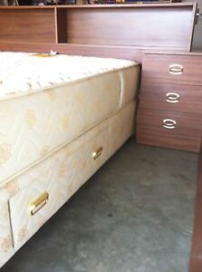 Queen size ensemble with headboard & side tables Woodcroft Morphett Vale Area Preview