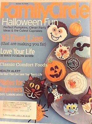 Family Circle Magazine Halloween Fun 10 Diet Lies October 18, 2005 081317nonrh