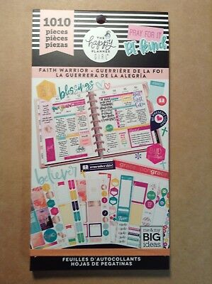New Me My Big Ideas The Happy Planner Girl Faith Warrior Sticker Book