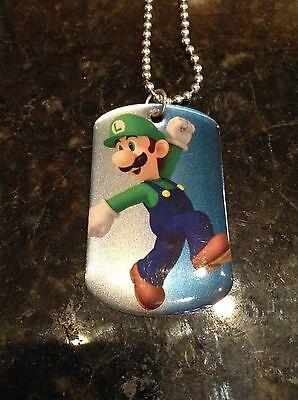Super Mario Brothers LUIGI #9 Dog Tag necklace nintendo