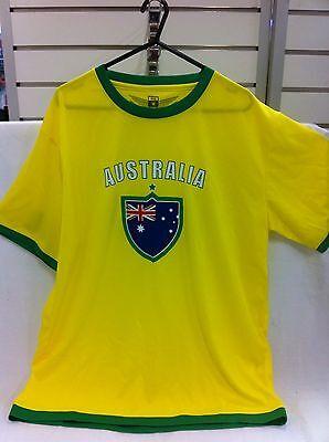 Socceroos Supporter T-Shirt Australia Aussie Shirt Football Aussies Medium New