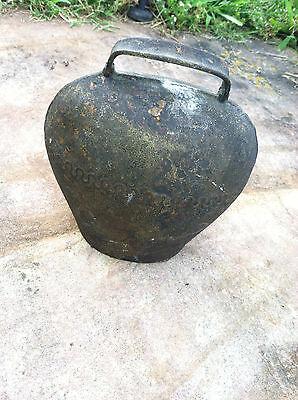 Antique Vintage Cow Goat Bell Metal Original Clapper Rustic Primitive Heavy