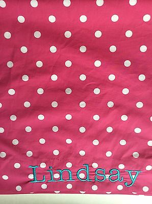 "Pottery Barn Teen Dottie Pink Standard Pillowcase (1) Monogrammed Lindsay"" NWOT"