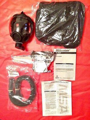 Msa 40mm Wtactical Bag Millennium Cbrn Gas Mask Respirator Medium