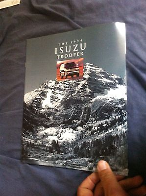 1994 Isuzu Trooper SUV USA Market  Brochure Catalog Prospekt