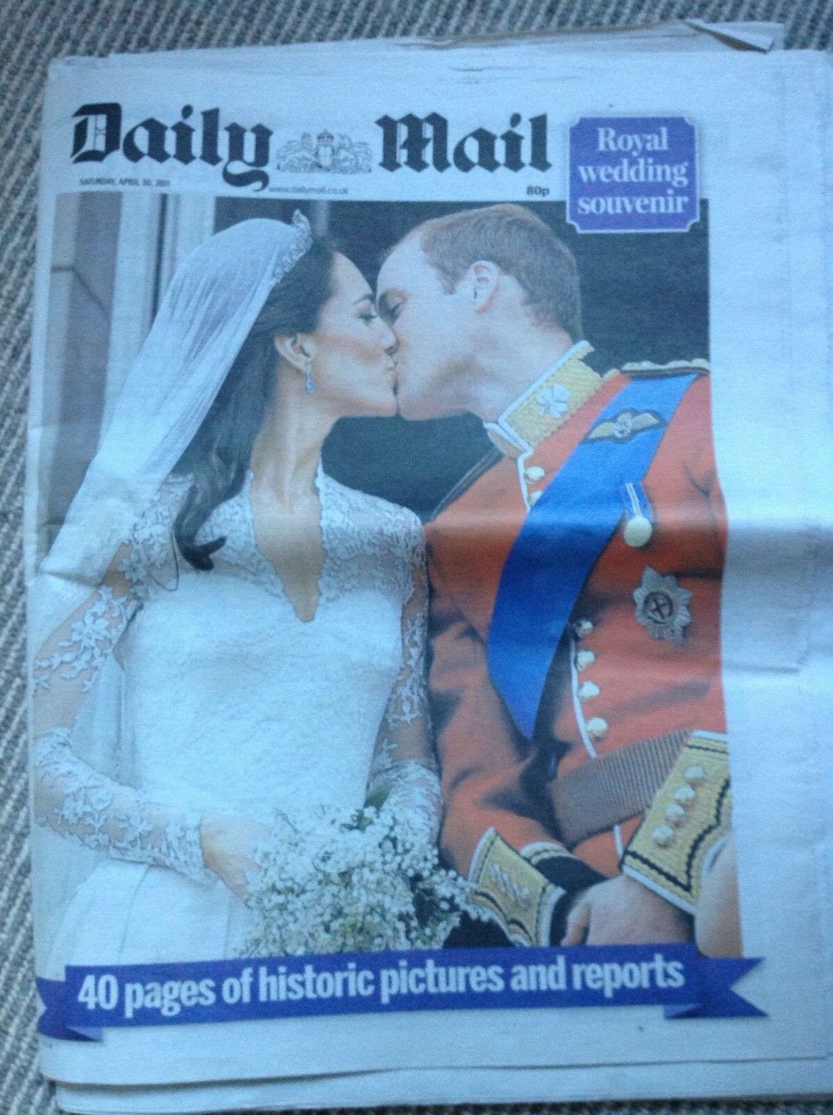 The Daily Mail newspaper from 30th Apr 2011 - Royal Wedding issue