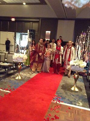 Satin Aisle Runner 75 ft Long 5ft wide - Wedding, Red Carpet Events - Seamless (Red Carpet Event Dekorationen)
