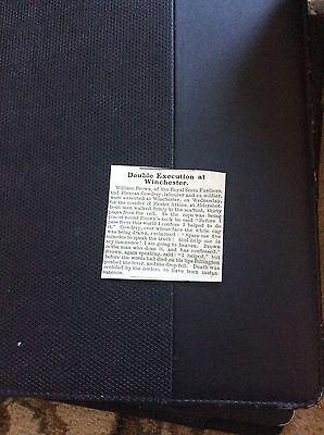 c4-2 ephemera 1903 article double execution winchester brown cowdrey