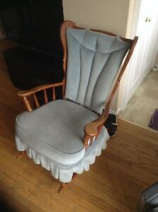 Wingback rocking chair
