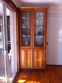 Fixed Wall Cabinet with Lead/Glass windows St Ives Ku-ring-gai Area Preview