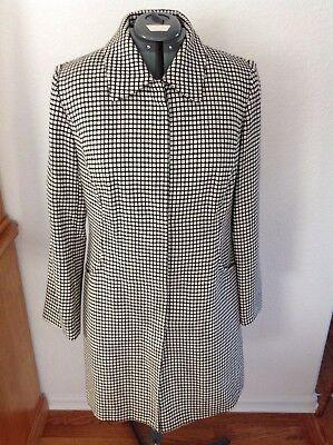 Womens Apt 9 Black White Pattern Lined Fashion Career Coat Jacket Dressy Sz 12