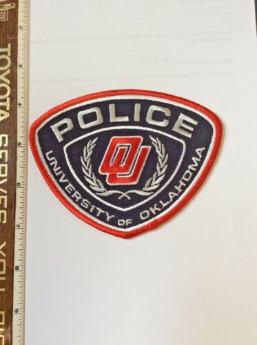 University of Oklahoma Police Shoulder Patch official issue New