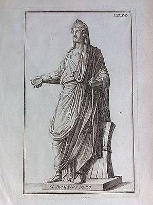 CL. DOMITIUS NEGRO tav. LXXXIII aguafuerte 1704 Domenico de Rojo Colección