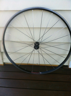 Velocity A23, 24 cx ray spokes, light weight front wheel