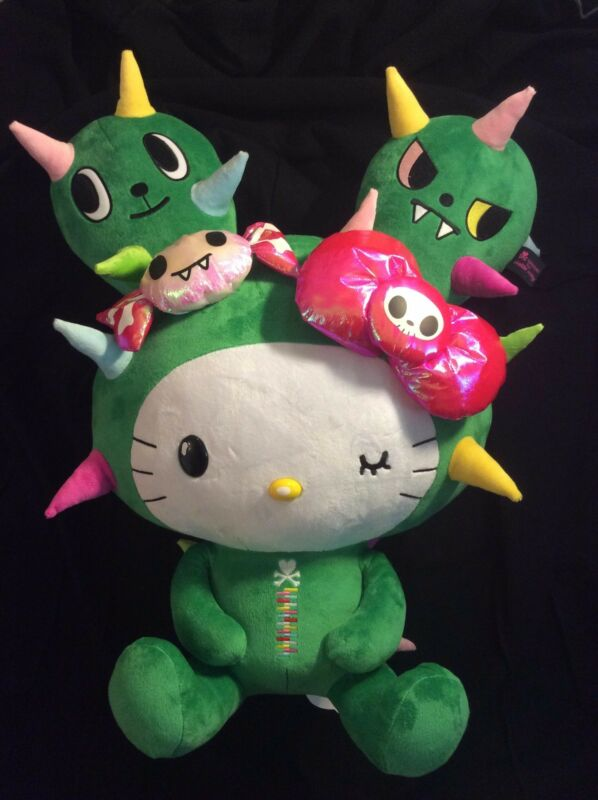 Brand new with tags Tokidoki sanrio characters giant cactus kitty plush 24""