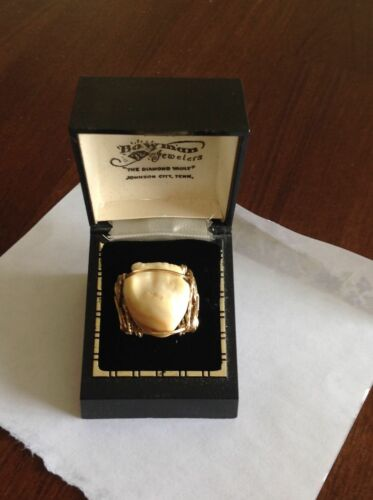 Vintage 14k Gold Elk Tooth Ring- designed by an artist- one of a kind, 7.1 grams