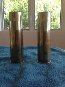 Pair of WW 1 Brass Shell Cases