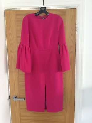 Jill Stuart fuchsia shift dress with bell sleeves new size uk 6