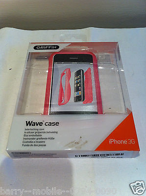 Iphone 3G & 3GS Case Pink WAVE  / Cover / Hard Shell Protection by Griffin Elan Iphone 3g Wave