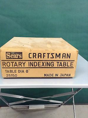 Sears Craftsman Rotary Indexing Table 8 Diameter New In Box