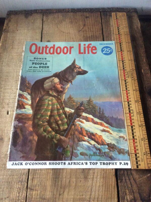 Outdoor Life Cover Man & Dog  Paper Advertising DuPont Remington