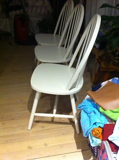 Three IKEA kitchen chairs like new  Cambridge Park Penrith Area Preview