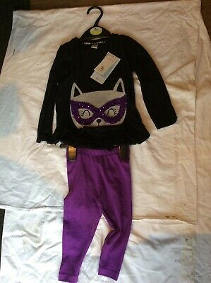 Sainsbury's Baby Clothes Halloween (BNWT SAINSBURY'S TU CLOTHING SEQUIN CAT FACE 2 PIECE SET BABY HALLOWEEN)