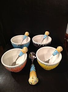 Ice bowls and Spoons