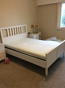 IKEA white double bed