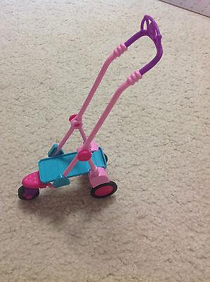 Barbie Doll Taffy Pet Dog Puppy Push Stroller Cart