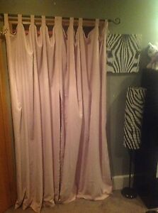 Light pink soft feel curtains