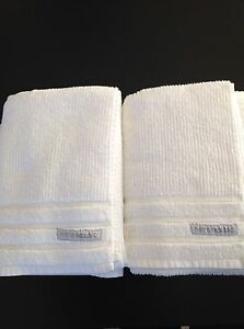 Home republic bath towels white x2 Mount Lewis Bankstown Area Preview
