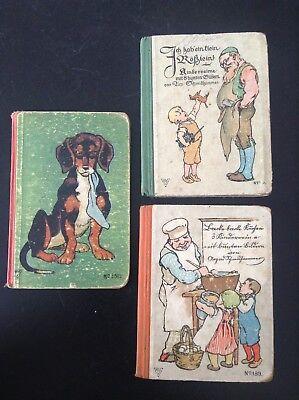 Lot de 3 très anciens livres d'enfantina