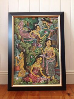 Original Ubud Balinese Oil on Canvas Painting