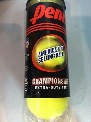 New Penn Championship Tennis Balls Extra Duty Yellow   Can Of 3