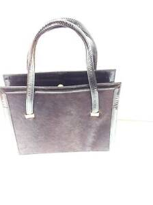 Vintage Elegant, Pony skin and black gloss leather handbag