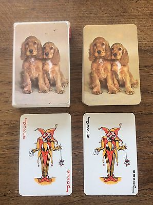 Vintage Cocker Spaniel Dog New Bond Boxed Playing Cards for FW Woolworth In Box