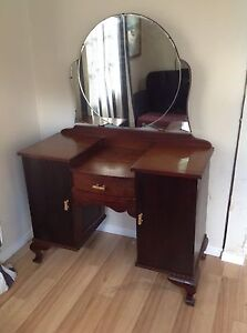 Early 1900's Art Deco Dressing Table with Mirror Tivoli Ipswich City Preview