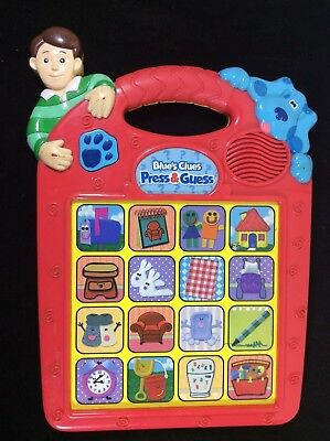 1998 Tyco~Blue's Clues~Press & Guess~Puppy Dog~Learning Electronic Game Toy