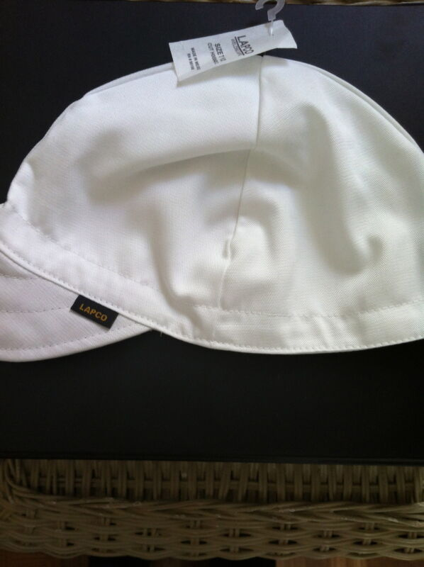 Welding Caps Lapco WHITE SIZE 7  NWT  6 CAPS
