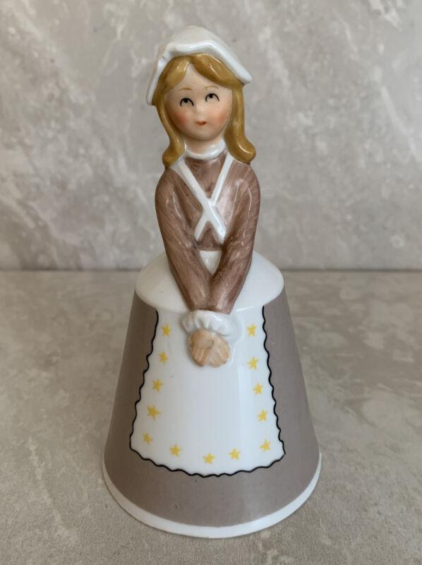 Schmid Bros. Inc. U.S.A Girl Bell USA American Pioneer Bonnet Japan