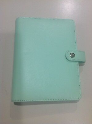 Green Faux Leather Compact Planner Binder Six 1 Rings 7 34x 6 Outside Measure