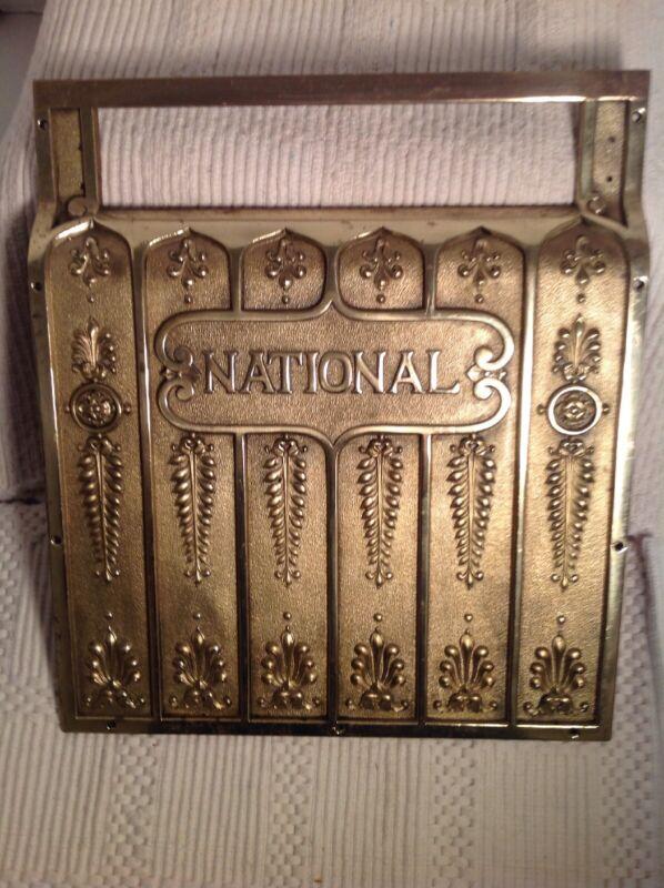 National Cash Register Brass Plate