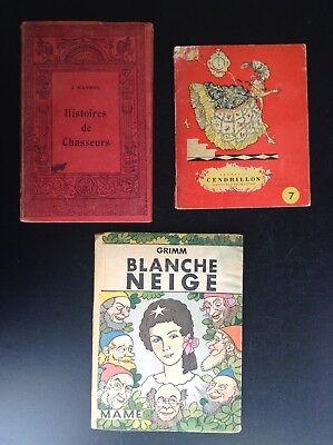 Lot de 3 anciens petits livres illustrés enfantina