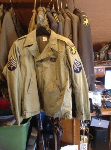 SUPER RARE WW2 513TH PIR 17TH AIRBORNE M-41 JACKET