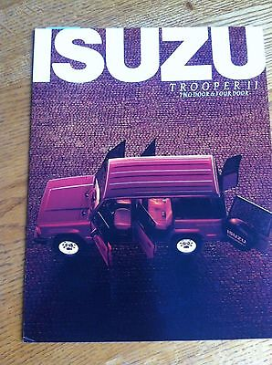 1985 ISUZU TOOPER II  SALES BROCHURE, ORIGINAL ITEM NOT A RE-PRINT