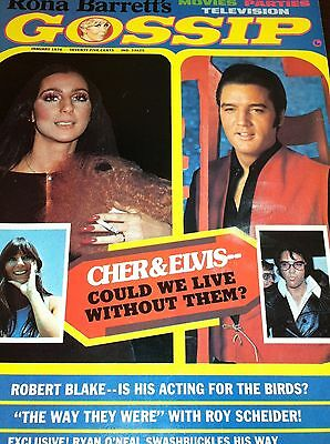 CHER Rona Barrett's Gossip January 1976 ELVIS PRESLEY Karen Black LILY TOMLIN