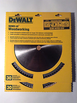 Dewalt Dw3232 Precision Finish Slide Miter Saw Blade 12 80 Teeth 2 Blades